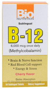 Bio Nutrition B-12, Methylcobalamin