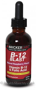 Bricker Labs B-12 Blast Vitamin B12 & Folic Acid