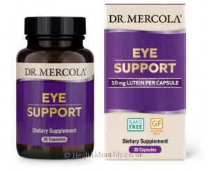Dr. Mercola Eye Support, Lutein, Zeaxanthin, Astaxanthin & Black Currant Complex