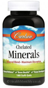 Carlson Chelated Minerals, Balanced Blend: Iron, Zinc, Magnesium, Potassium, Maximum Absorption