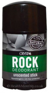 Crystal Deodorant Rock Wide Stick