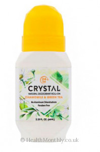 Crystal Natural Roll-On Deodorant Chamomile & Green Tea