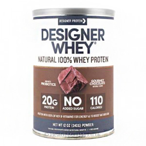Designer Protein Natural 100% Whey Protein Powder
