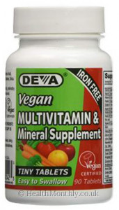 Deva Nutrition Vegan  Multivitamin & Mineral Supplement