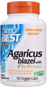 Doctor's Best Agaricus Blazei with BioPerine