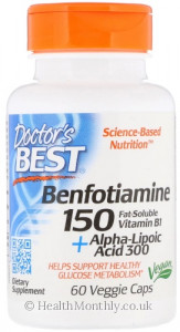 Doctor's Best Benfotiamine plus Alpha Lipoic Acid