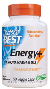 Doctor's Best Energy+ CoQ10, NADH, & B12