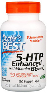 Doctor's Best 5-HTP Enhanced with Vitamins B6 & C