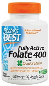 Doctor's Best Fully Active Folate 800 with Quatrefolic