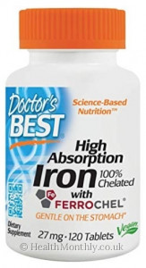 Doctor's Best High Absorption Iron with Ferrochel