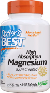 Doctor's Best High Absorption Magnesium, 100% Chelated