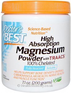 Doctor's Best High Absorption Magnesium Powder with TRAACS 100% Chelated