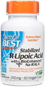 Doctor's Best Stabilised R-Lipoic Acid