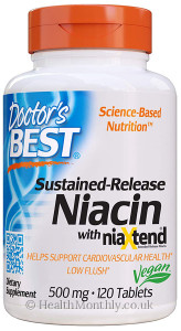 Doctor's Best Time-release Niacin with Niaxtend