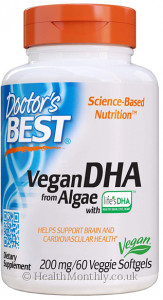 Doctor's Best Vegetarian DHA from Algae