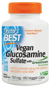 Doctor's Best Vegan Glucosamine Sulfate with Green Grown Glucosamine
