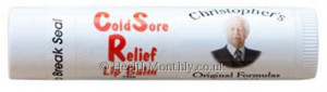 Dr Christopher's Cold Sore Relief Lip Balm Tube