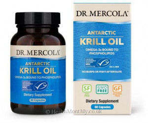 Dr. Mercola Antarctic Krill Oil, Omega-3 Bound to Phospholipids