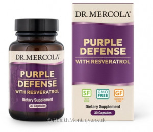 Dr. Mercola Purple Defense, Organic Grape Seed Extract Blend with Resveratrol