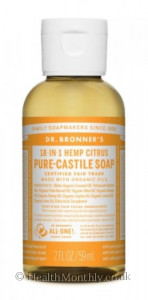 Dr. Bronner's Magic Soaps, Castile Liquid Soap Citrus Orange