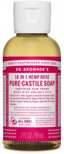 Dr. Bronner'S Magic Soaps Castile Liquid Soap Rose