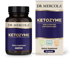 Dr. Mercola Ketozyme, Complex for High Fat Ketogenic Diet