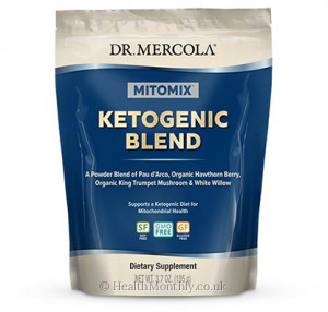 Dr. Mercola MITOMIX™ Ketogenic Blend, Pau d'Arco, White Willow Bark, Organic King Trumpet Mushrooms & Hawthorn Berry Fruit