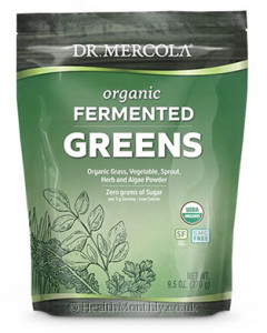 Dr. Mercola Organic Fermented Greens, Grass, Vegetable, Sprout, Herb & Algae Powder