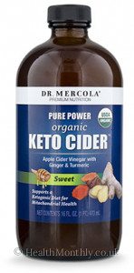 Dr. Mercola MITOMIX™ KETO CIDER™ Organic Sweet Apple Cider Vinegar with Ginger & Turmeric®