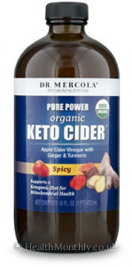 Dr. Mercola MITOMIX™ KETO CIDER™ Organic Spicy Apple Cider Vinegar with Ginger, Turmeric & Habanero Pepper®
