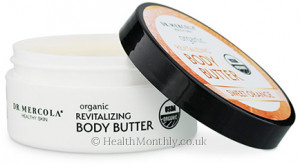 Dr. Mercola Healthy Skin, Organic Revitalising Body Butter Sweet Orange