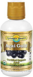 Dynamic Health Acai Gold 100% Organic Juice
