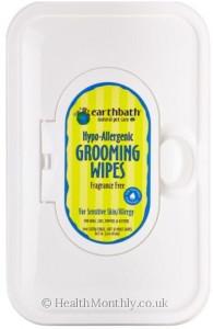 Earthbath Natural Pet Care Hypo-Allergenic Grooming Wipes Fragrance Free