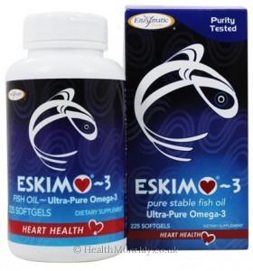 Enzymatic Therapy, Eskimo-3®, Natural Stable Fish Oil with Ultra-Pure Omega-3,