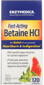Enzymedica Fast-Acting Betaine HCL