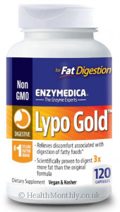 Enzymedica Lypo Gold For Fat Digestion