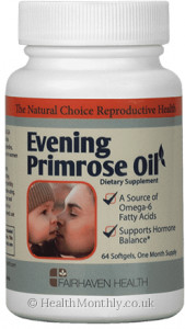 Fairhaven Health Organic Evening Primrose Oil Omega-6 for Fertility