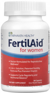 Fairhaven Health Fertilaid® for Women, Patented Fertility Formula & Prenatal Vitamins Supplement