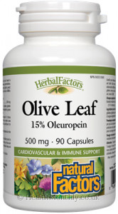 Natural Factors Herbal Factors Olive Leaf 15% Oleuropein