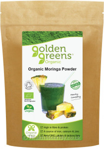 Golden Green Organic Moringa Powder