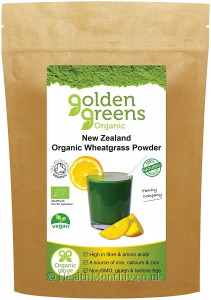 Golden Greens Organic New Zealand Wheatgrass Powder