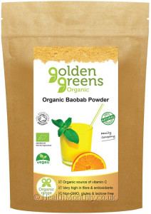 Golden Greens Organic Baobab Powder