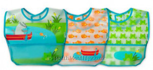 Green Sprouts Wipe-Off Bibs Aqua Pond Set