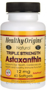 Healthy Origins Natural Triple Strength Astaxanthin