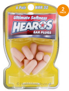 Hearos Ear Plugs Ultimate Softness NRR 32