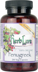 Herb Lore 100% Organic Fenugreek