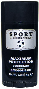 Herban Cowboy Maximum Protection Deodorant Sport