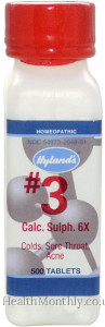 Hyland's Homoeopathic Medicine #3 Calc. Sulph. 6X