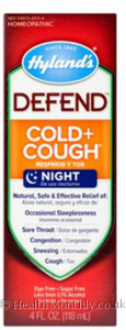 Hyland's Homoeopathic Medicine DEFEND™ Cold + Cough Night