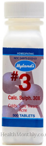 Hyland's Homoeopathic Medicine #3 Calc Sulph 30X